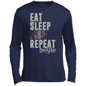 Eat Sleep Fish Repeat Performance Long Sleeve