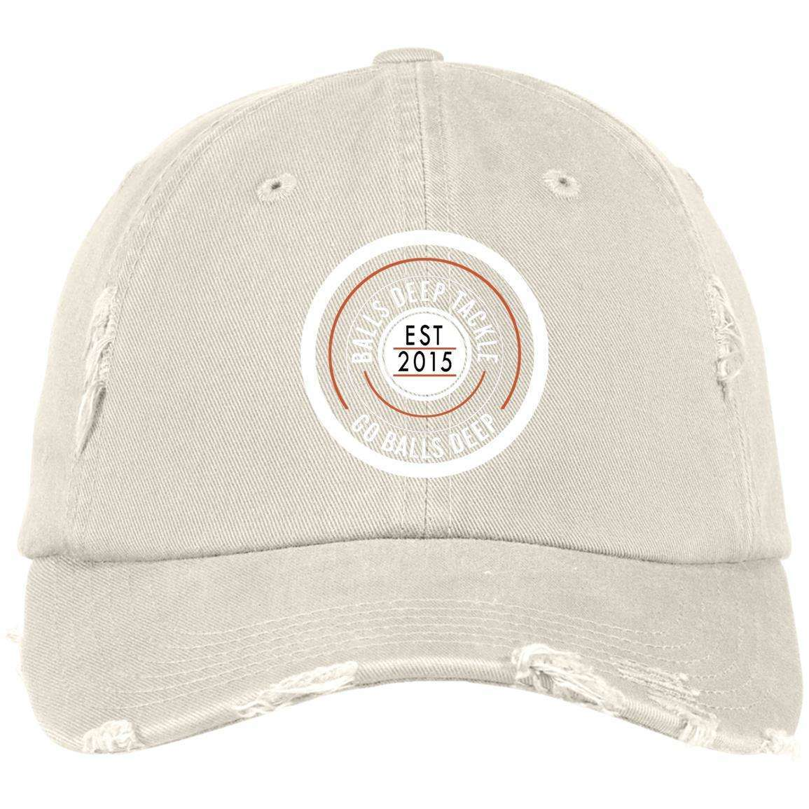 Est 2015 Patch (White) Distressed Dad Cap