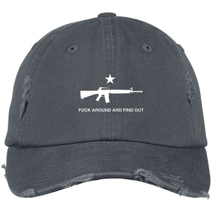 Fuck Around and Find Out M16 Distressed Dad Cap