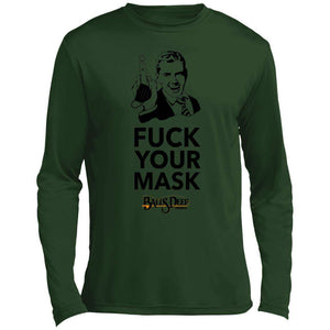 Fuck Your Mask Middle Finger Man Performance Long Sleeve