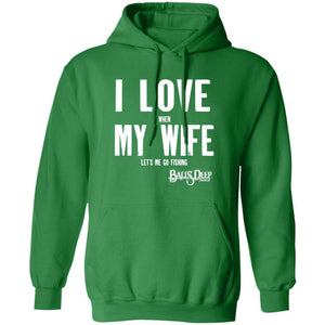 I Love My Wife (Fishing) Hoodie