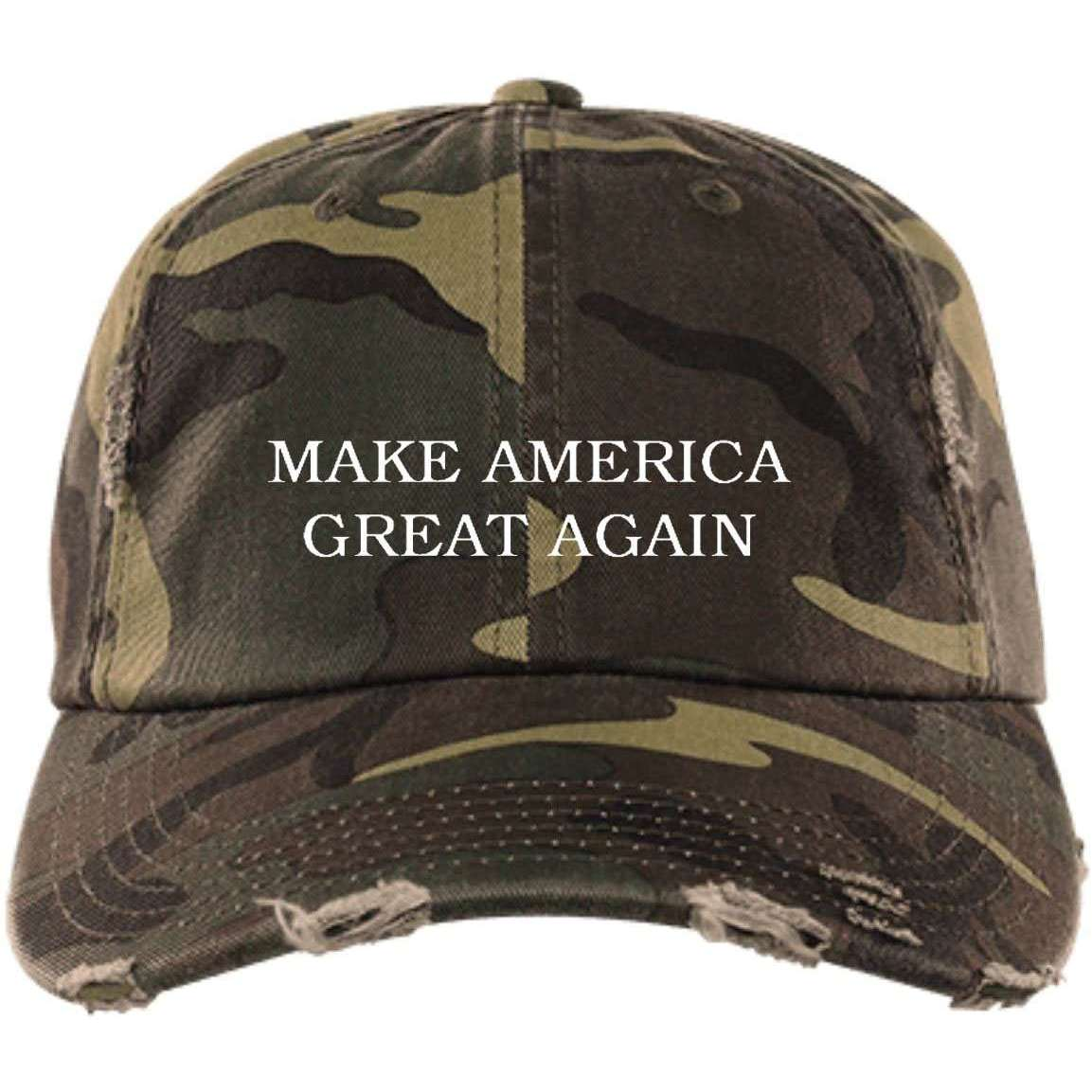 MAGA Distressed Dad Cap
