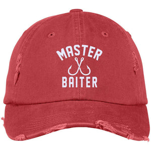 Master Baiter Distressed Dad Cap