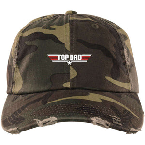Top Gun Top Dad Original Distressed Dad Cap