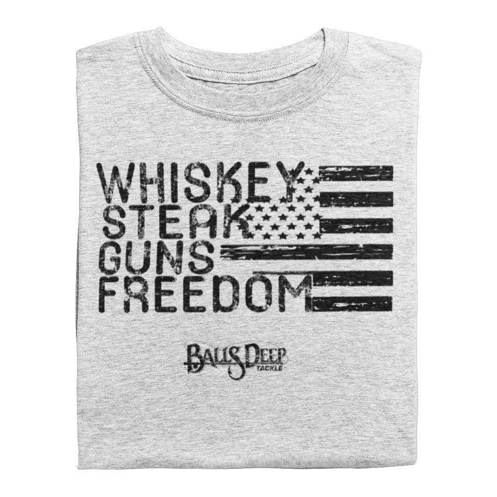 Whiskey, Steak, Guns, & Freedom (Black)