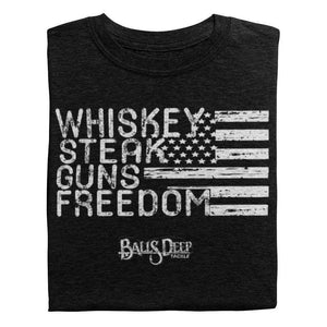 Whiskey, Steak, Guns, & Freedom (White)