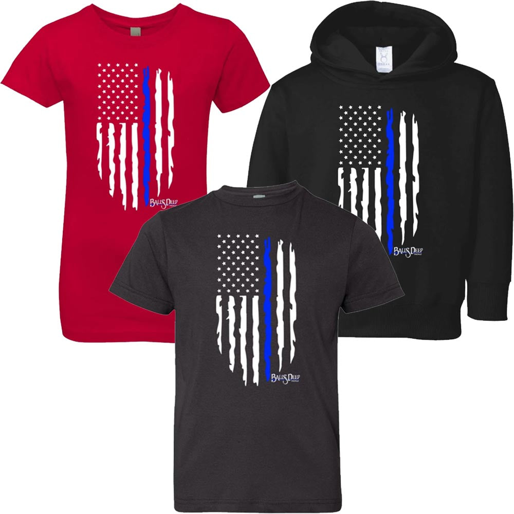 American Blue Line Flag Youth Tee