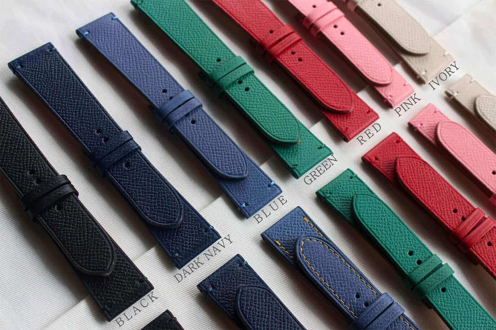 Custom handmade watch strap by Coup De Coeur