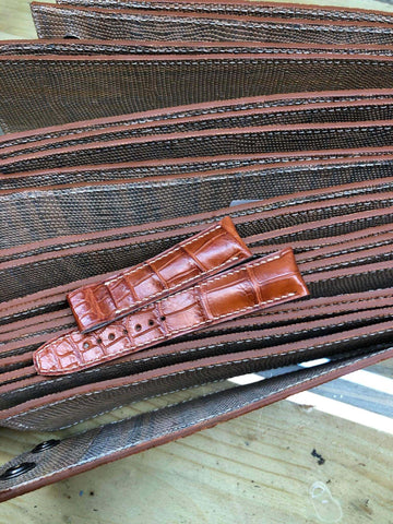 Coup De Coeur's Brown Crocodile Leather Watch Strap