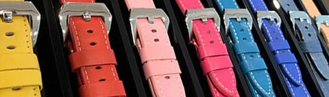 22mm Leather Watch Straps by Coup De Coeur Watches Singapore