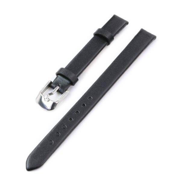 10mm White / Red / Pink / Brown Black Leather Watch Strap [5 Variations]