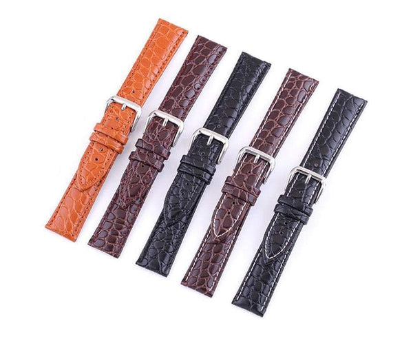 12mm 13mm 14mm 15mm 16mm 17mm 18mm 19mm 20mm 21mm 22mm 23mm 24mm Leather Watch Strap [5 Variations]