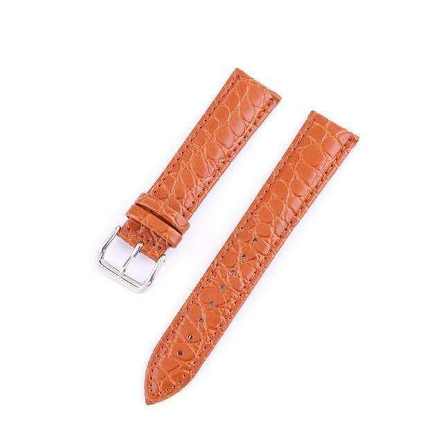Coral 12mm 13mm 14mm 15mm 16mm 17mm 18mm 19mm 20mm 21mm 22mm 23mm 24mm Leather Watch Strap [W118]