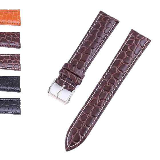 Dim Gray 12mm 13mm 14mm 15mm 16mm 17mm 18mm 19mm 20mm 21mm 22mm 23mm 24mm Leather Watch Strap [W118]