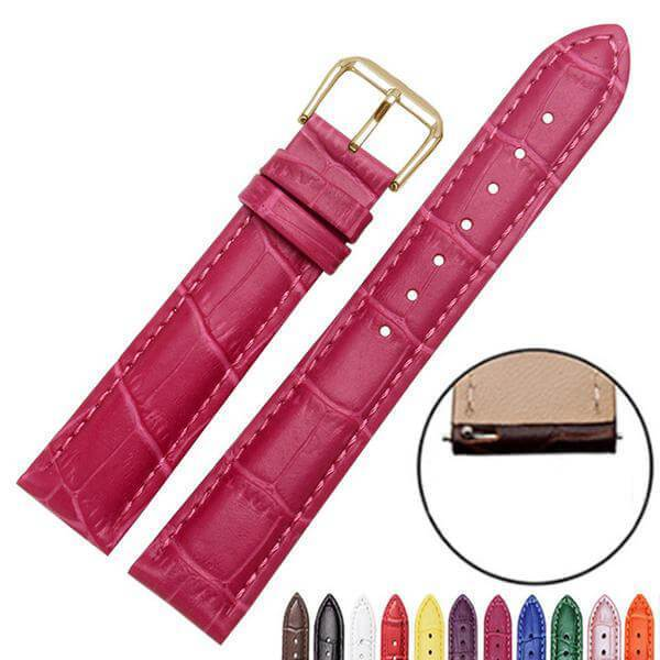 12mm 13mm 14mm 15mm 16mm 17mm 18mm 19mm 20mm 21mm 22mm 23mm 24mm Leather Watch Strap With Quick Release Pin [8 Variations]