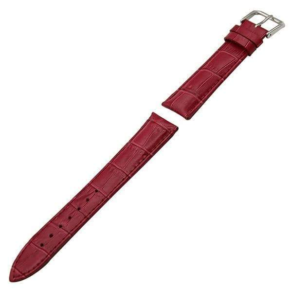 12mm 14mm 16mm 17mm 18mm White / Red / Pink / Purple / Blue / Pink / Brown / Grey / Black Leather Watch Strap With Pin Buckle [11 Variations]