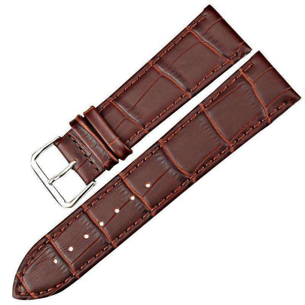 Dark Olive Green 12mm 14mm 16mm 18mm 19mm 20mm 21mm 22mm Brown / Black Leather Watch Strap [W013]