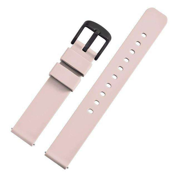 14mm 18mm 20mm 22mm Red / Pink / Blue / Grey / Black Rubber Watch Strap With Quick Release Pin [5 Variations]