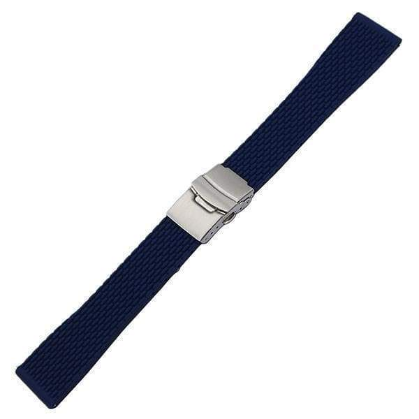 17mm 18mm 19mm 20mm 21mm 22mm 23mm 24mm Orange / Red / Blue / Black Rubber Watch Strap With Quick Release Pin [4 Variations]