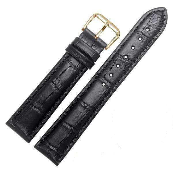 Dark Slate Gray 18mm 19mm 20mm 21mm 22mm 23mm 24mm Yellow / Orange / Red / Pink / Purple / Green / Brown / Black Leather Watch Strap with Quick Release Pin [W058]