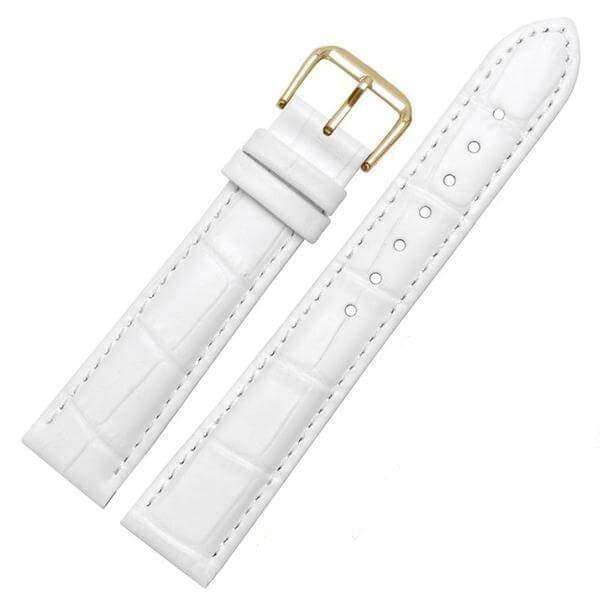 White Smoke 18mm 19mm 20mm 21mm 22mm 23mm 24mm Yellow / Orange / Red / Pink / Purple / Green / Brown / Black Leather Watch Strap with Quick Release Pin [W058]