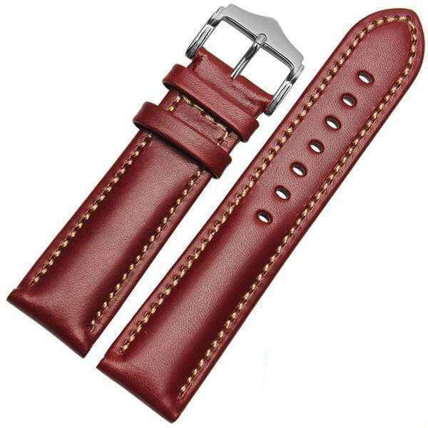 Rosy Brown 18mm 20mm 21mm 22mm Orange / Red / Blue / Green / Brown / Black Leather Watch Strap [W016]