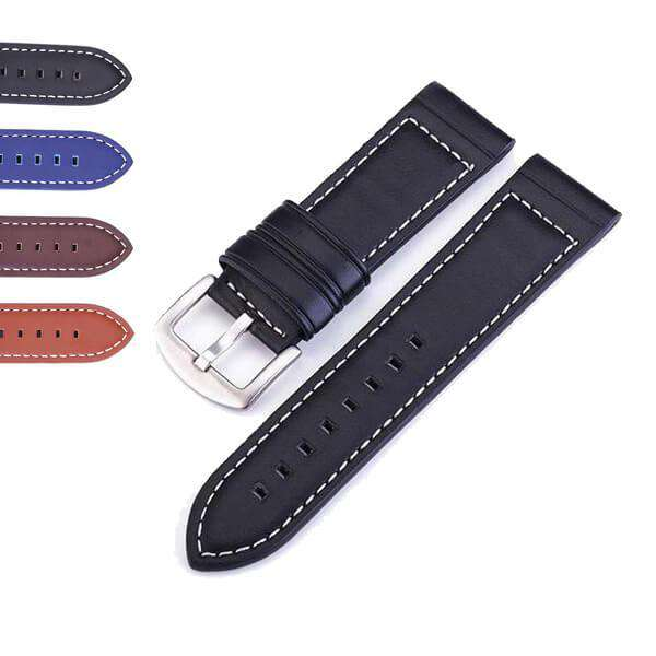Dark Slate Gray 18mm 20mm 22mm 24mm Blue / Brown / Black Leather Watch Strap [W123]