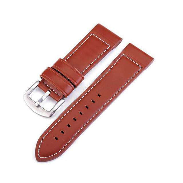 Sienna 18mm 20mm 22mm 24mm Blue / Brown / Black Leather Watch Strap [W123]