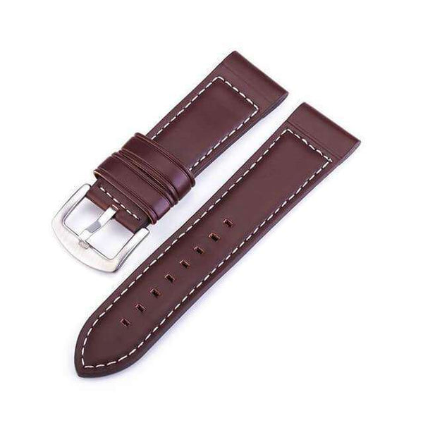 Dim Gray 18mm 20mm 22mm 24mm Blue / Brown / Black Leather Watch Strap [W123]