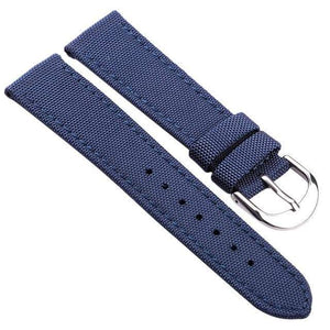 18mm 20mm 22mm 24mm Blue / Green / Black Hybrid Canvas And Leather Watch Strap [3 Variations]