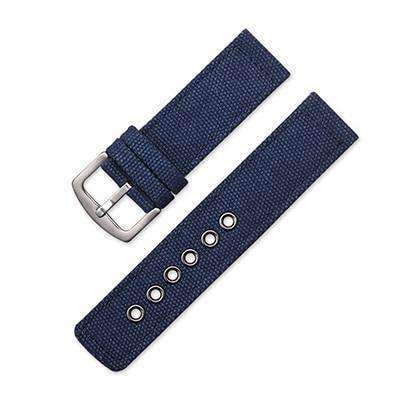 18mm 20mm 22mm 24mm Blue / Green / Brown / Black Canvas Watch Strap [4 Variations]