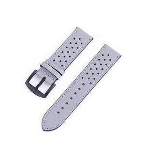 18mm 20mm 22mm 24mm Blue / Green / Brown / Grey / Black Leather Watch Strap with Quick Release Pin [6 Variations]