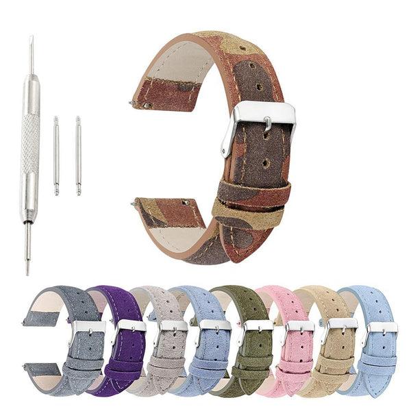 18mm 20mm 22mm 24mm Suede Leather Watch Strap