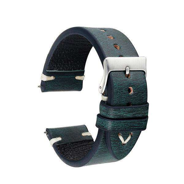 18mm 20mm 22mm 24mm Yellow / Orange / Red / Green / Brown / Black Cowhide Suede Leather Watch Strap [7 Variations]