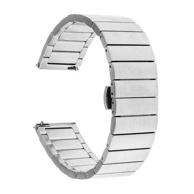 18mm 20mm 22mm Stainless Steel Bracelet Watch Strap With Quick Release Pin [4 Variations]