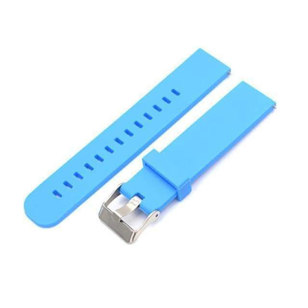 18mm 20mm 22mm White / Orange / Red / Blue / Green / Grey / Black Rubber Watch Strap [8 Variations]