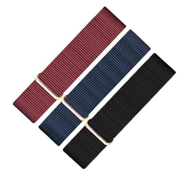 18mm 20mm Red / Blue / Black Nylon Nato Watch Strap [6 Variations]