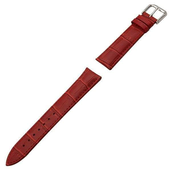 19mm 20mm 21mm 22mm 23mm 24mm White / Red / Pink / Purple / Blue / Pink / Brown / Grey / Black Leather Watch Strap With Pin Buckle [11 Variations]