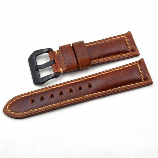 20mm 22mm 24mm 26mm Leather Watch Strap [4 Variations]