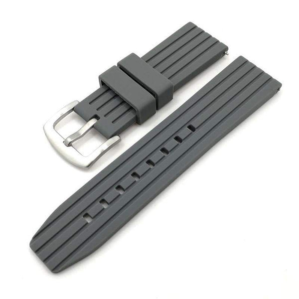 20mm 22mm 24mm Blue / Grey / Black Rubber Watch Strap [3 Variations]