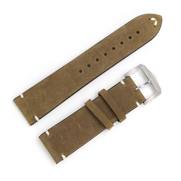 20mm 22mm 24mm Cowhide Suede Leather Watch Strap [8 Variations]