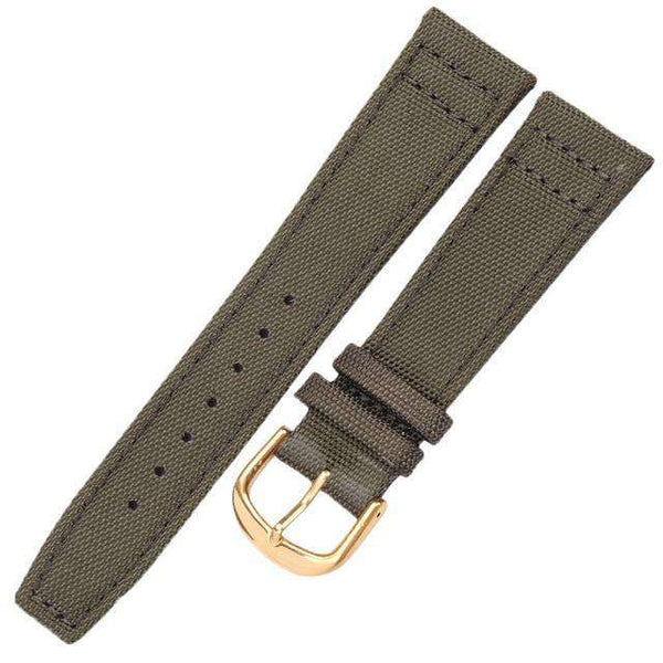 20mm 22mm Green / Black Canvas Watch Strap [2 Variations]