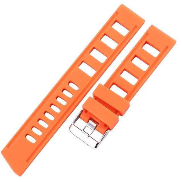 20mm 22mm Orange / Blue / Black Rubber Watch Strap [3 Variations]