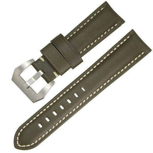 22mm 24mm 26mm Orange / Brown / Green / Black Leather Watch Strap [4 Variations]