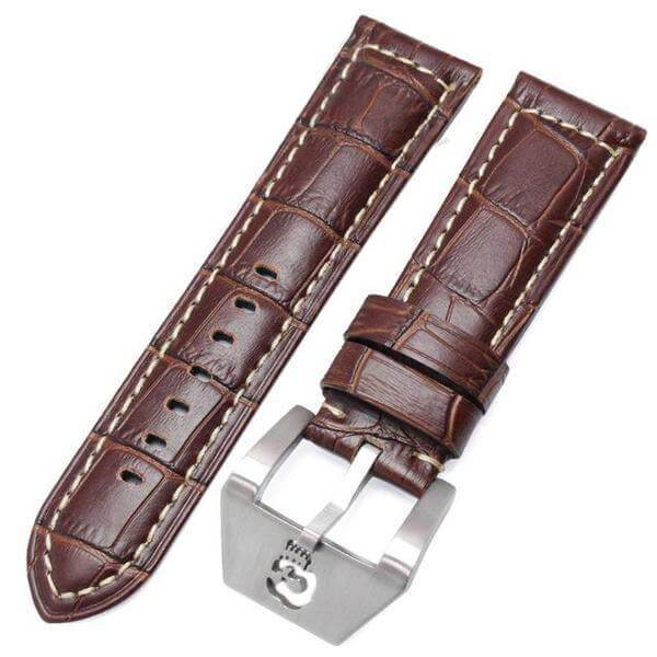 22mm 24mm Leather Watch Strap With Custom Buckle[18 Variations]