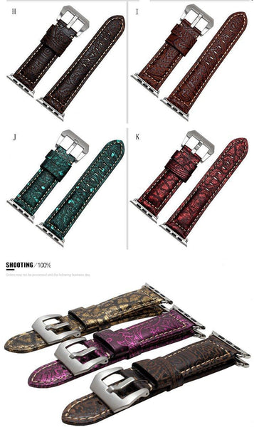 22mm 24mm Ostrich Pattern Watch Strap [For Watch & Apple Watch]