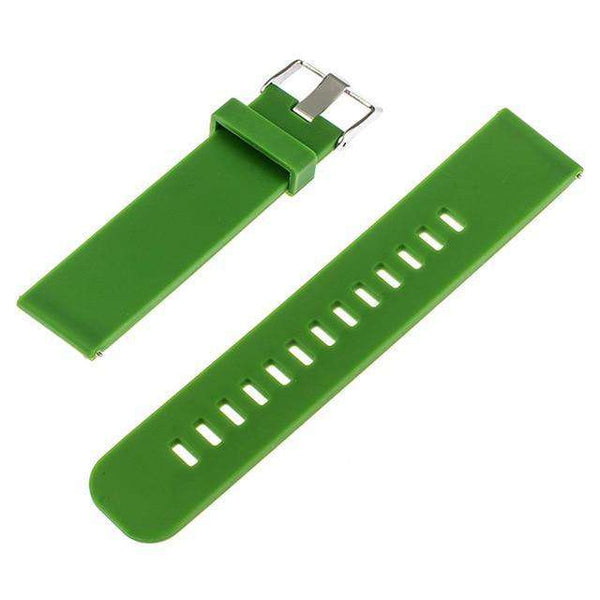 22mm Red / Blue / Green / Grey / Black Rubber Watch Strap With Quick Release Pin [6 Variations]
