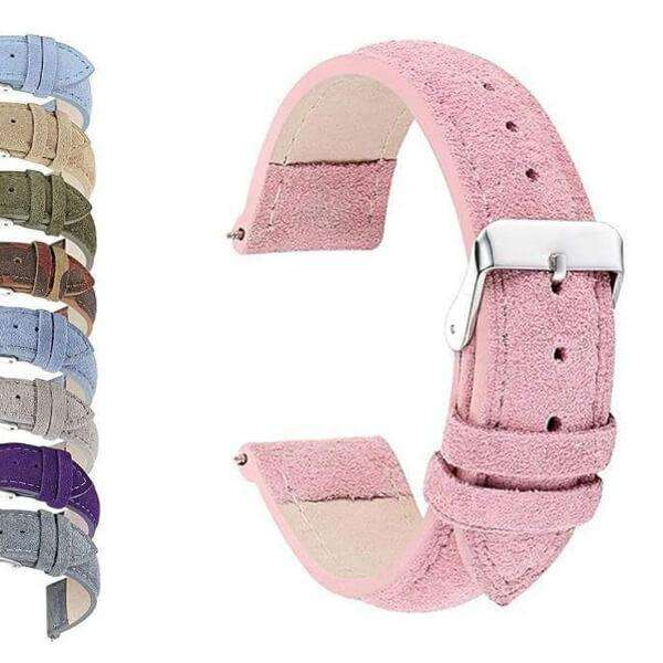 Light Pink 18mm 20mm 22mm 24mm Pink / Blue / Purple / Green / Brown / Grey Suede Leather Watch Strap [W064]
