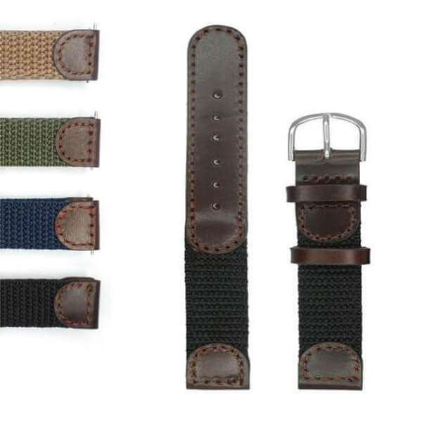 Dark Slate Gray 16mm 17mm 18mm 19mm 20mm 22mm 24mm Blue / Green / Brown / Black Nylon Watch Strap [W132]
