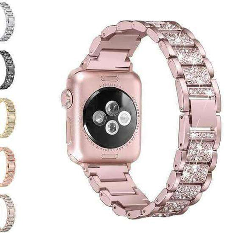 Thistle Crystal Stainless Steel Watch Bands for Apple Watch [W052]